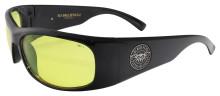 Black Flys Fly Ballistics 2 Safety Glasses - Shiny Black - Z87 Yellow