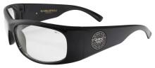 Black Flys Fly Ballistics 2 Safety Glasses - Shiny Black - Z87 Clear