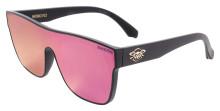 Black Flys Mono Fly Sunglasses - Matte Black - Violet Mirror Lens