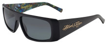 Black Flys Slightly Stoopid Collab Sunglasses - Matte Blk-Polar w/Art