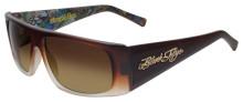 Black Flys Slightly Stoopid Sunglasses - Matte Caramel Gradient w/Art