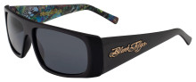Black Flys Slightly Stoopid Sunglasses - Matte Blk-Smoke w/Art
