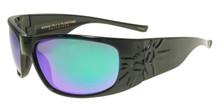 Black Flys Sonic 2 Floating Sunglasses - Shiny Black - Green Mirr Polarized