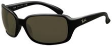 Ray Ban RB4068 sunglasses - black/ crys grn