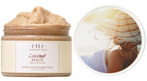Coconut Beach Body Scrub 12 oz. plastic jar