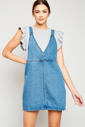 Convertible Denim Overall Dress