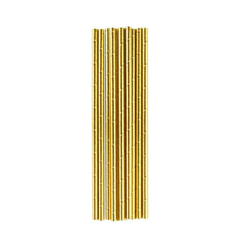 Gold Metallic Paper Straws