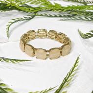 Cream Stone Stretch Bracelet
