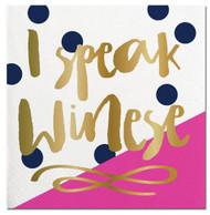 I Speak Winese Beverage Napkin