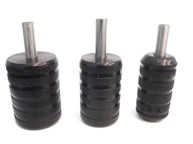 Knurled Black Aluminium Grip