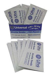UHS ALCOHOL CLEANSING SWABS PADS - PRE  PIERCING