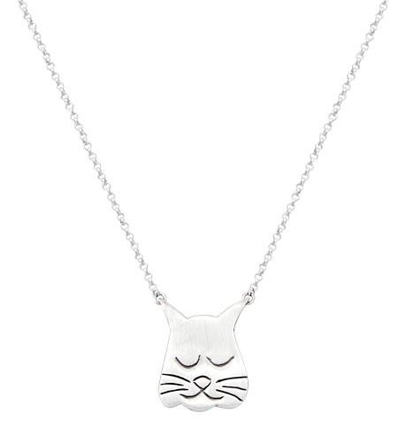 Fish Dreams Cat Tag Necklace