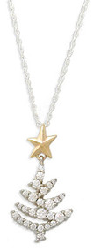 Diamond Christmas Tree Pendant