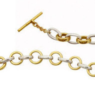 """Say It"" Gold and Silver Bracelet $799"