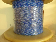 High Temperature Teflon® Wire Gauge 26 (19Strands) Type E Blue-White 1000ft