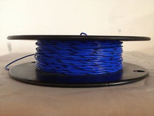 M22759/11-18-6 AWG 18 High Temperature Wire Teflon® Blue-Black Stripe 250 Feet