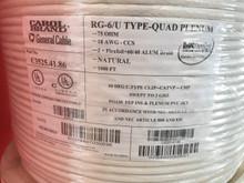 RG6 Quad Shield Plenum CMP Carol General Cable C3525, 1000 Feet