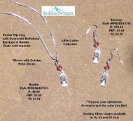 Flip Flop Bauble & Earrings; Swarovski birthstone of your choice