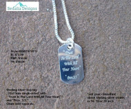 """Trust in the Lord with all your heart"" dog tag bauble"