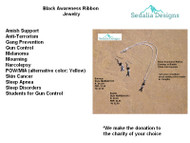 What the black ribbon represents