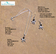 Wild horses bauble & earrings