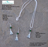 """Oh Christmas Tree"" Bauble & Earrings"