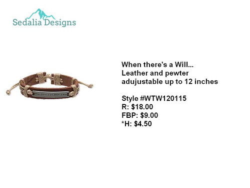 'When there's a Will ...' bracelet