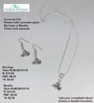 'I Love My Cat' bauble & earrings