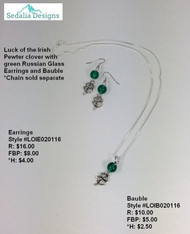 Luck of the Irish Bauble & Earrings
