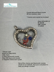 Lana's Locket Crystal Heart