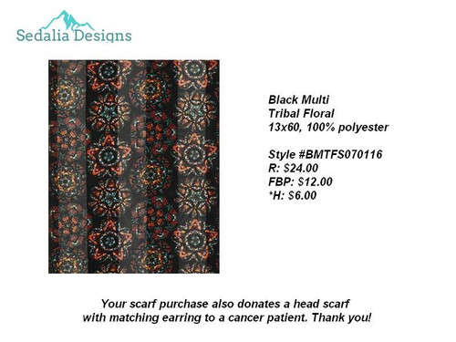 Tribal Floral scarf