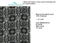 Black & Grey Mystic scarf