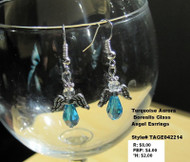 TEAL AB CRYSTAL ANGELS/ PEWTER/ EARRINGS