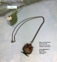 Brass Owl Necklace