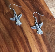 Resell for 5.00 or more Pewter angel  Surgical steel ear wires Style #SAE111117g