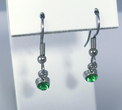 Resell for 5.00 or more Pewter with crystal  August Birthstone Peridot (imitation) Style #PBSE112217g