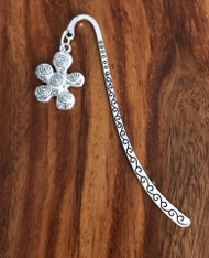 Resell for 9.00 or more Pewter flower  Bookmark Style #CFB112517g