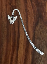 Resell for 9.00 or more Pewter heart w wings Bookmark Style #SMHBM121117g