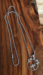Resell for 12.00 or more Stainless steel dragonfly pendant 22 inch stainless ball chain Style #SDN121417g
