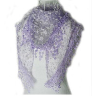 "BE SURE TO PUT ""SCARF"" IN THE SEARCH....WE HAVE DOZENS TO CHOOSE FROM STARTING AT 6.00 AND EACH GIVES BACK! **This purchase will also donate 1 scarf with earrings to a cancer patient**   resell for 27.00 or more **Also at your consultants website 100% Polyester 53x65 inch Lavender fancy lace scarf Style #LFLS010118g"