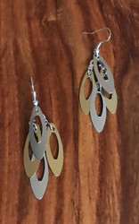 Resell for 9.00 or more 2 inch dangle Gold tone silver tone  Surgical steel ear wires Style #TDLLDE010418g
