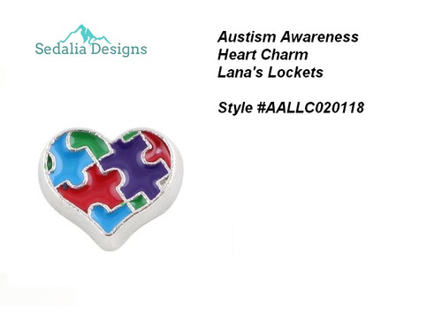 Austism Awareness Puzzle Charm  approx 8 mm