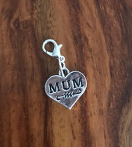Resell for 6.00 or more Pewter Mum heart Lobster clasp bauble charm Style #MHB011818g