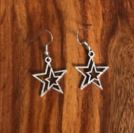 Resell for 5.00 or more Pewter star Surgical steel ear wires Style #DSE012618g