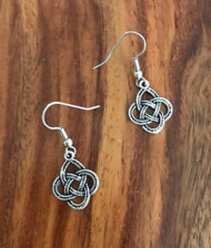 Resell for 5.00 or more Pewter Celtic knot Surgical steel ear wires Style #ACKE020218g