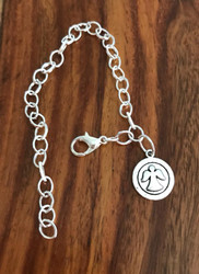 Resell for 9.00 or more Silver tone bracelet 7.5 inch Pewter angel charm Style #ACB030118g