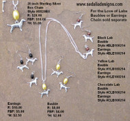 Yellow Labrador Earrings; bauble & chain sold separately