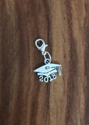 Resell for 6.00 or more Pewter 2018 graduate bauble Lobster clasp bauble charm Style #GCBC040816g