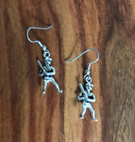 Resell for 6.00 or more Pewter Batter Up Baseball Earrings  Surgical steel ear wires Style #BUE040618g
