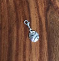 Resell for 6.00 or more Pewter baseball  Lobster clasp bauble charm Style #BBB040618g